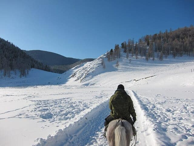 6 Tips For Riding Your Horse In The Snow – iHeartHorses.com