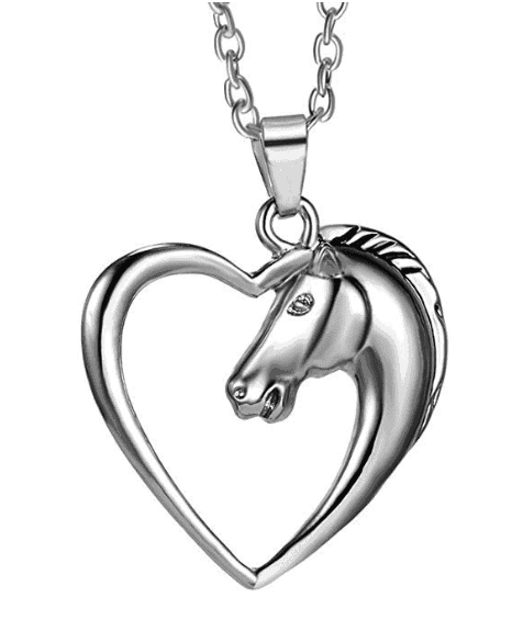 horse and heart necklace