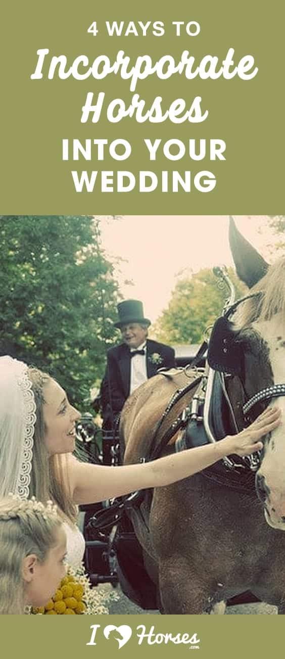 horses in your wedding